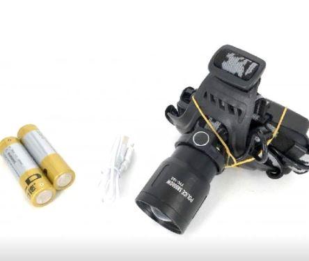 Фонарь налобный YYC-102 +аккумулятор+ зарядка micro