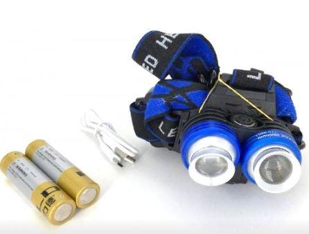 Фонарь налобный YYC-2801 +аккумулятор+ зарядка micro