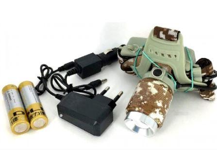 Фонарь налобный YYC-002M-2 +аккумулятор+ СЗУ+ АЗУ