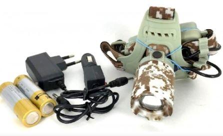 Фонарь налобный YYC-003 +аккумулятор+СЗУ+АЗУ