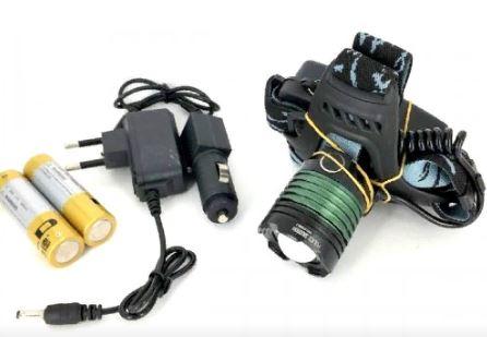 Фонарь налобный YYC-2188B (YYC-6699) +аккумулятор+ СЗУ+ АЗУ