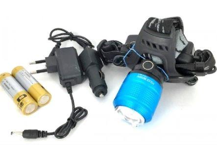 Фонарь налобный YYC-2199-2 +аккумулятор+ СЗУ+ АЗУ