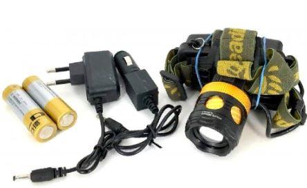 Фонарь налобный YYC-6813A-2 +аккумулятор+ СЗУ+ АЗУ