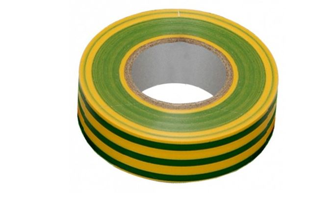 Изолента 0,15*15 мм 20м желто-зеленый VKL electric (10/250)