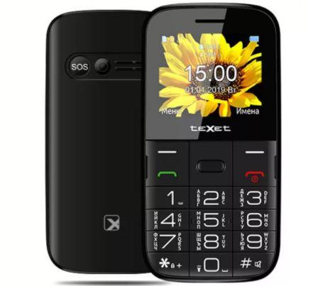 Телефон TeXet TM-B208 черный