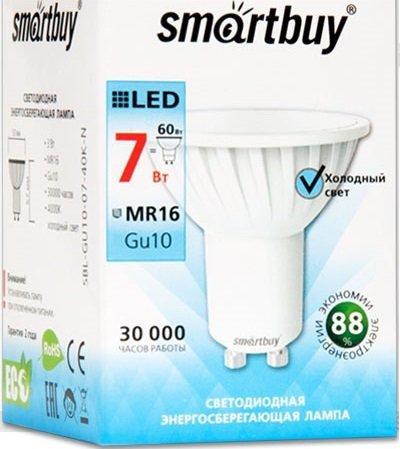 Лампа Smart Buy Светодиодная GU10 7W 4000/GU10 дневной свет