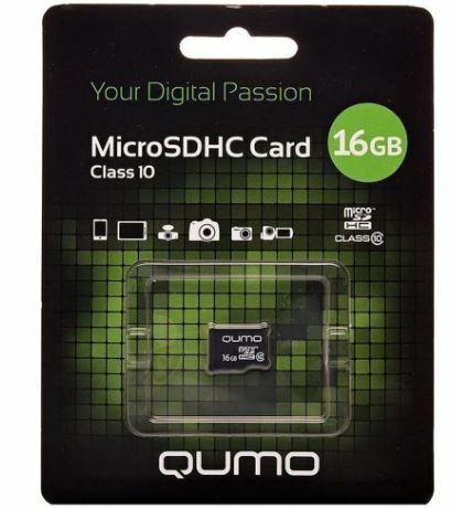 Карта памяти QUMO 16GB MicroSDHC class 10 UHS1 3.0 без адаптера QM16GMICSDHC10NA