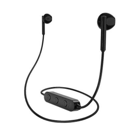 Наушники BOROFONE BE27 Bluetooth черная шейный шнур, слот microSD