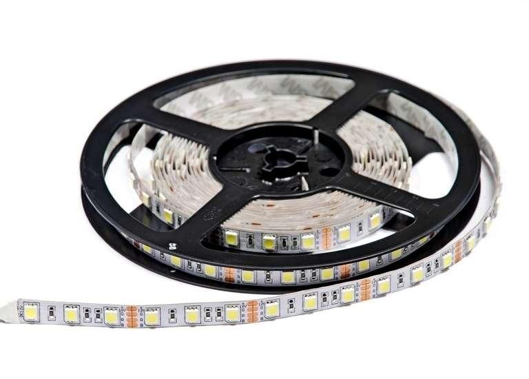 Лента светодиодная ECOSMD-2835/60-12v-W(белый) 4,8w/m IP20 ВКЛЮЧАЙ (уп.5м)
