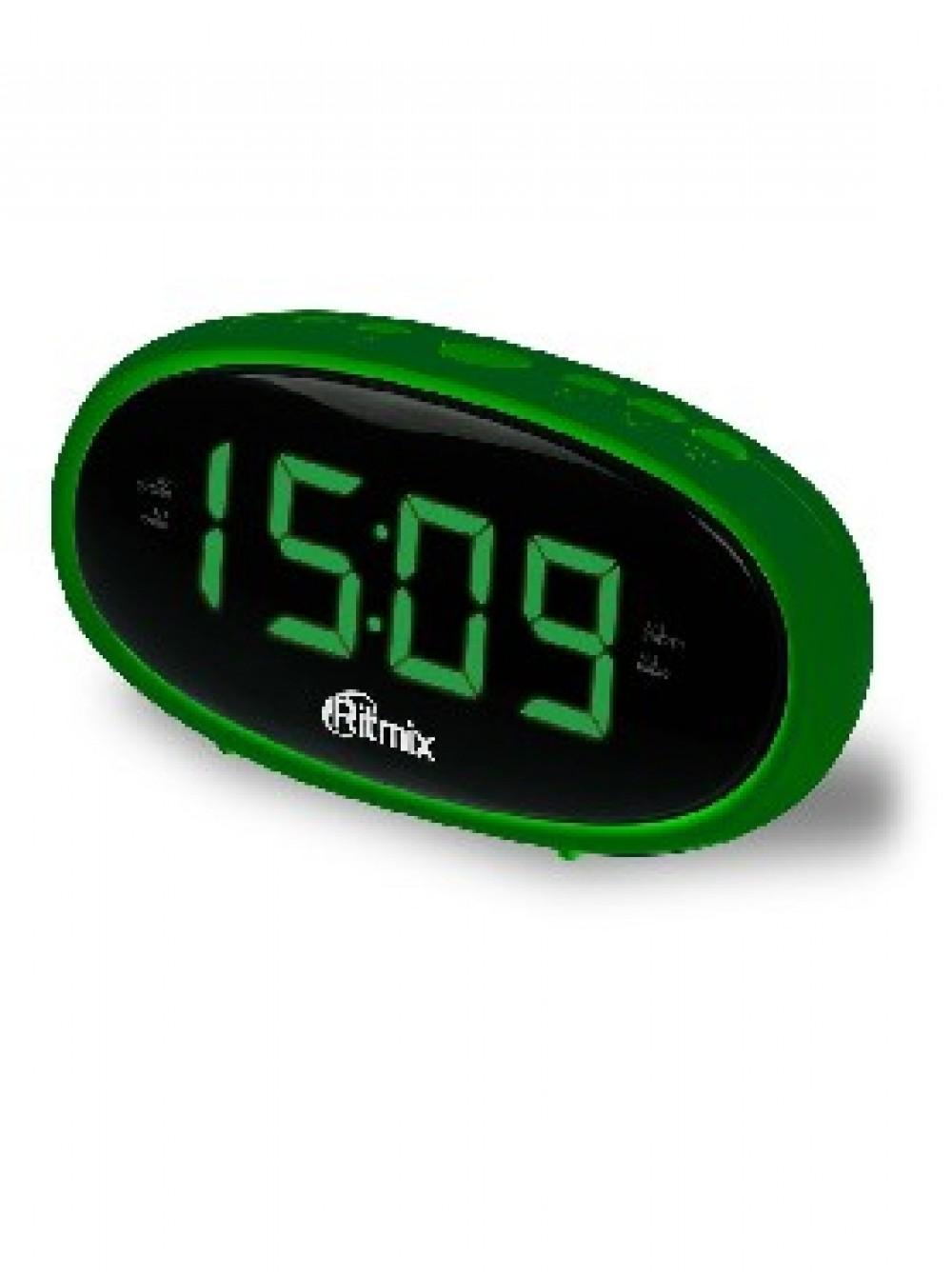 Радиобудильник RITMIX RRC-616 зеленый компактный/2 будильник