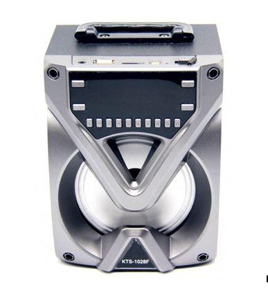 Бумбокс+Bluetooth+USB+SD+радио+аккумулятор+светомузыка KTS-1028F