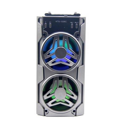 Бумбокс+Bluetooth+USB+SD+радио+аккумулятор+светомузыка KTS-1036C