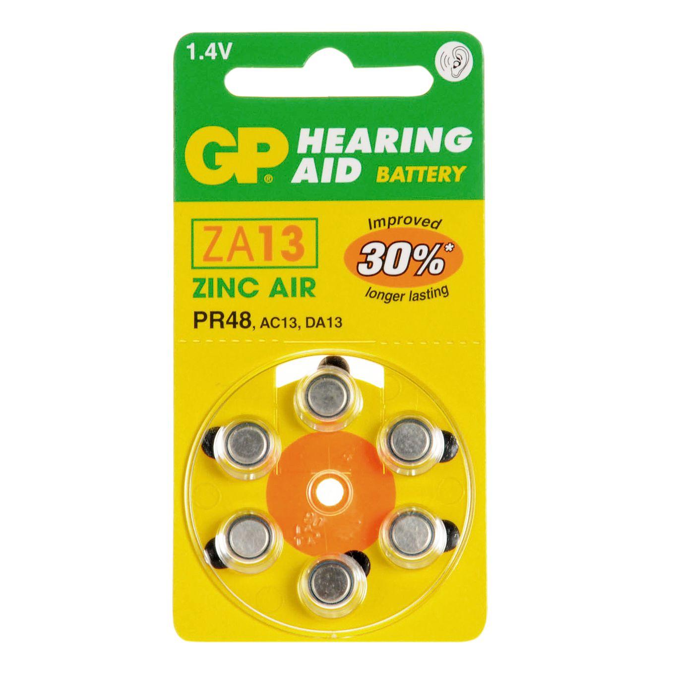 GP ZA-13 для слуховых аппаратов/6шт в коробочке (60)