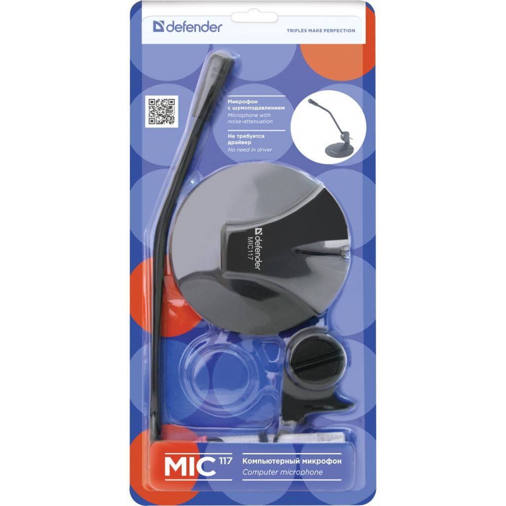 Микрофон DEFENDER MIC-117 на гибкой ножке кабель 1,8м черный