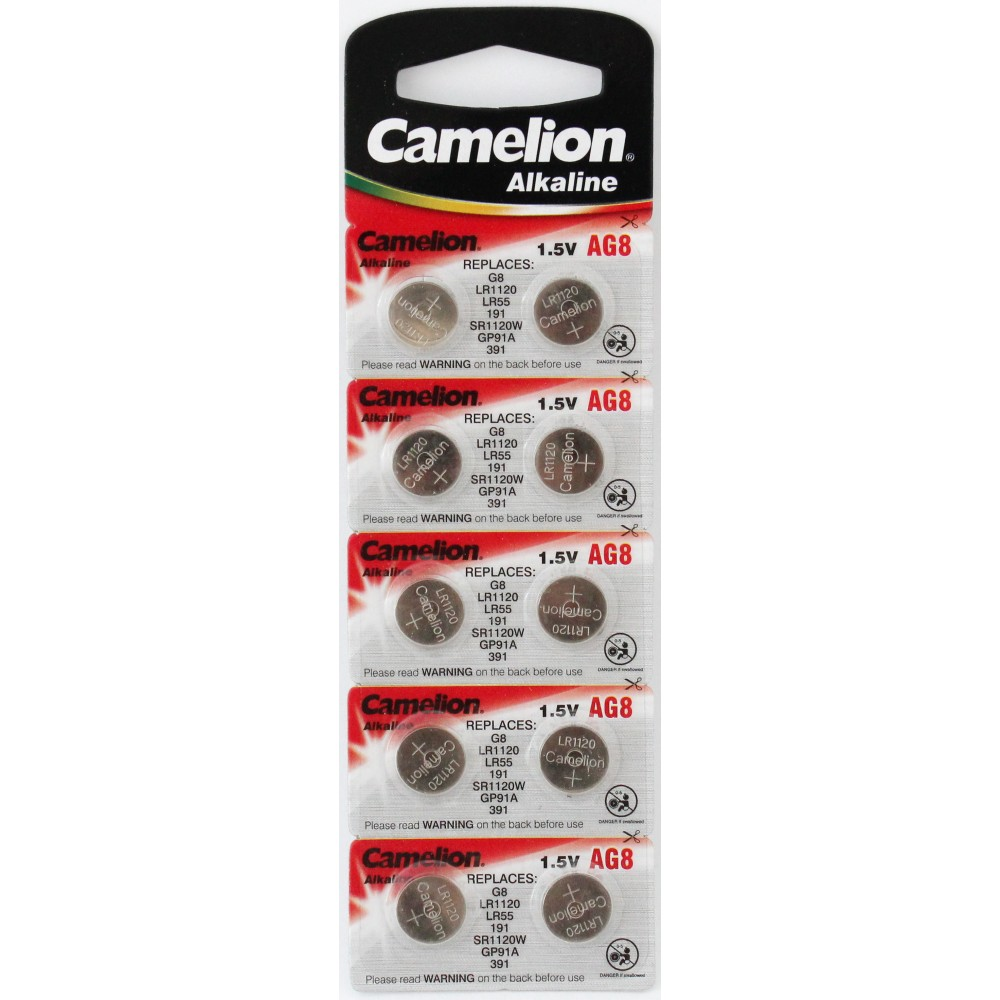 CAMELION AG 08 (391А) LR1120 (10) (100)