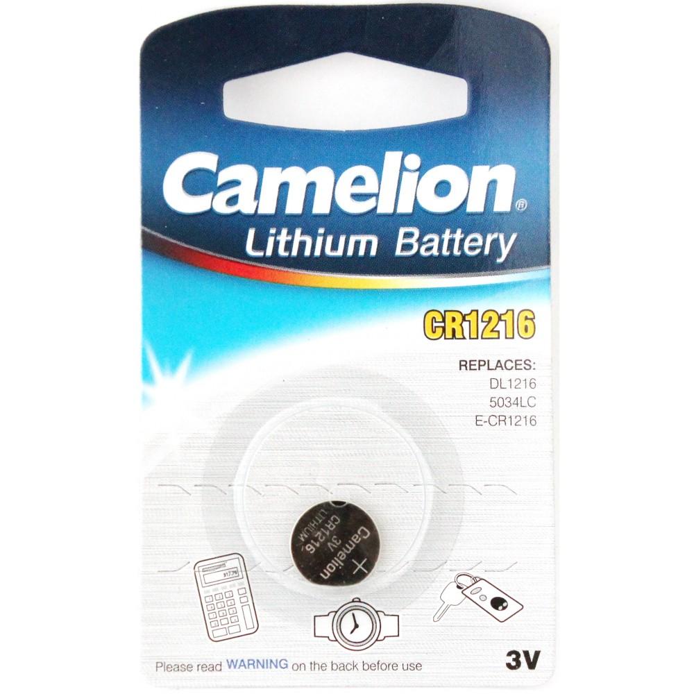 CAMELION CR-1216 1BL литиевая 3V