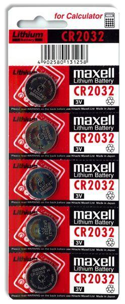 MAXELL CR 2032 - 5BL
