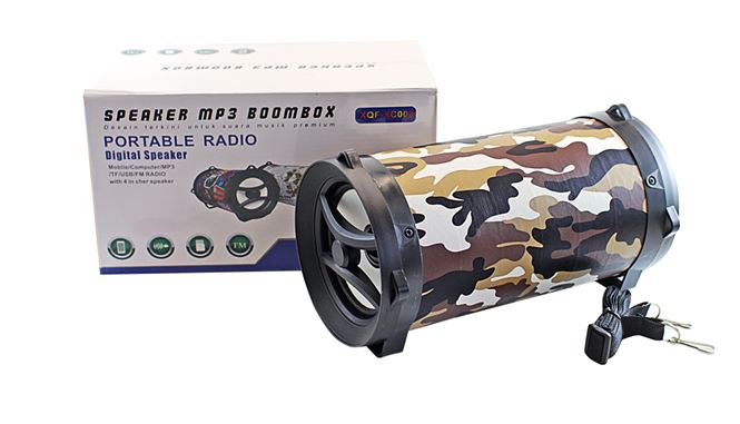 Бумбокс+Bluetooth+USB+SD+радио+аккумулятор+светомузыка XQF-XC002