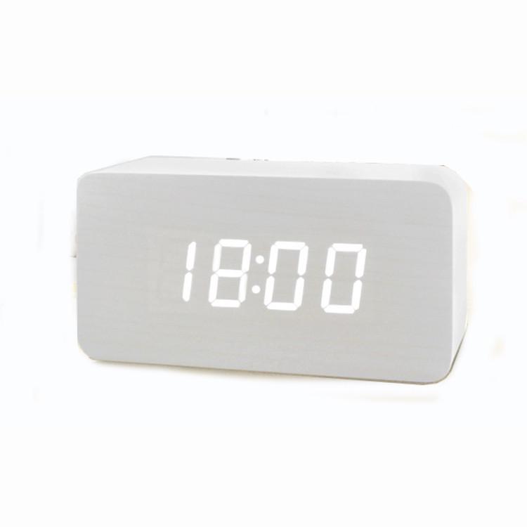 Часы (деревянные)+дата+температура VST-863/6 (белый)