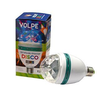 Вращаящийся LED проектор в патрон VOLPE DISCO