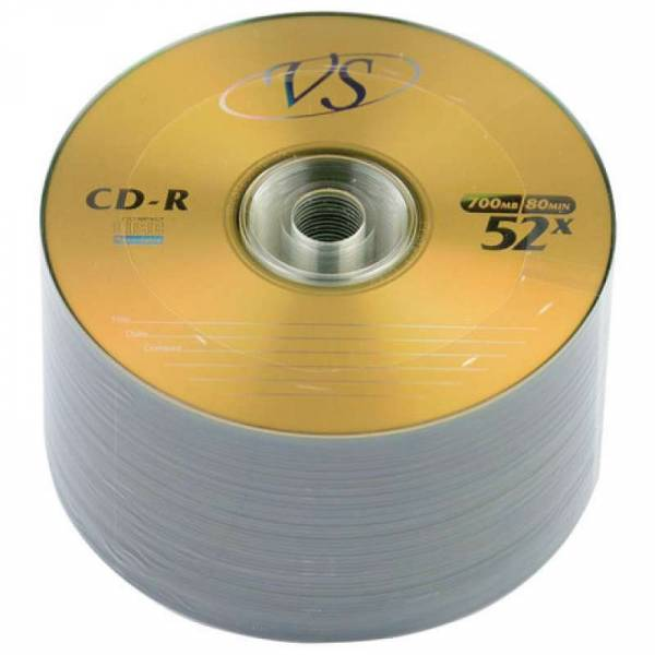 Диск VS CD-R 80 52X BULK\50шт в пленке