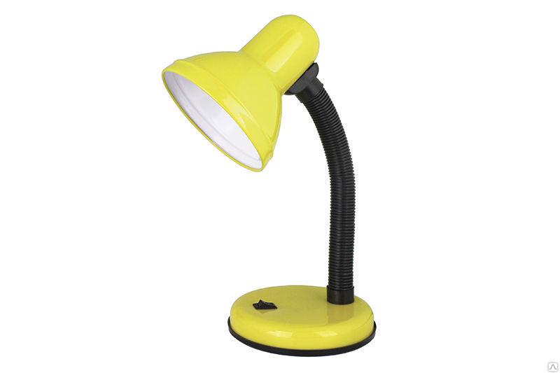 Лампа настольная жёлтая 230В, 60Вт е 27 Ultraflash (Camelion) (аналог KD-301) UF-301P C07
