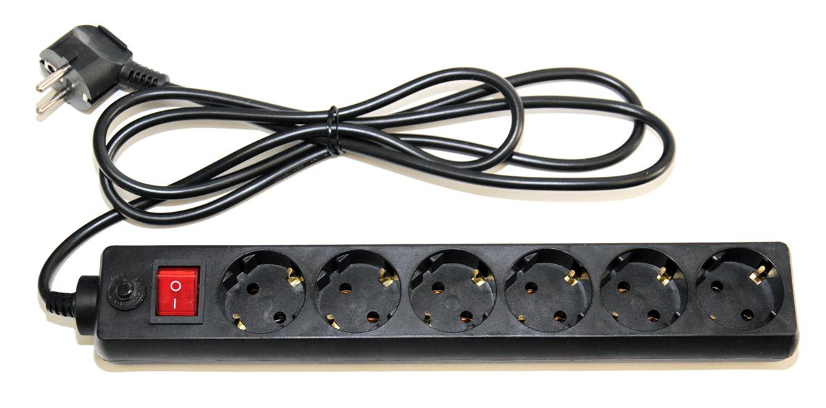 Удлинитель 5bites SP-6-B-10 6г. 1,0м