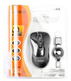 Мышь A4TECH K4-61X оптическая голубая 3 кнопки USB 2.0