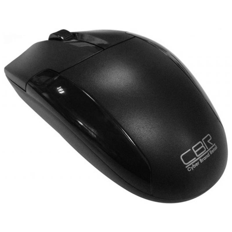 Мышь CBR CM-302 Black Usb бесшумный клик глянцевая вставка