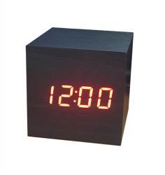 Часы (деревянные)+дата+температура VST-869/1 (красный)