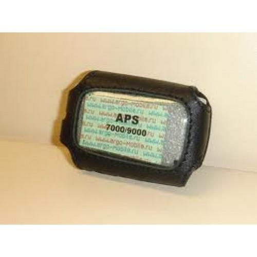 Чехол на сигнализацию APS 7000/9000 кобура на подложке с кнопкой, кожа черн