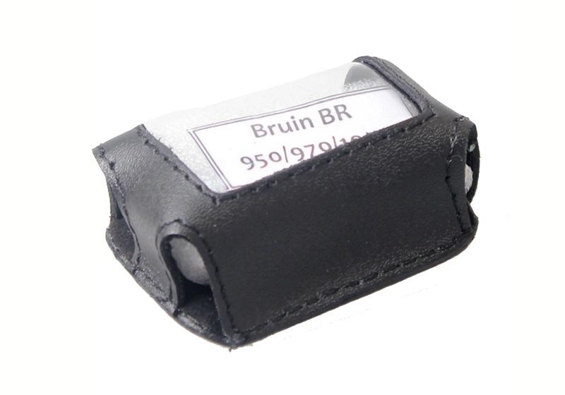 Чехол на сигнализацию BRUIN BR 950/970/1000 кобура на подложке с кнопкой, кожа черн