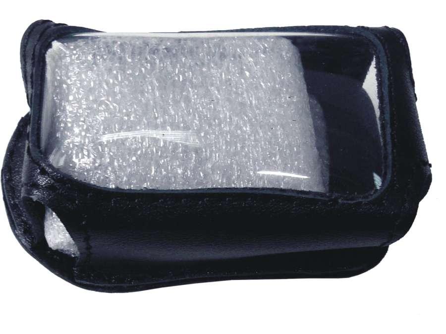 Чехол на сигнализацию CENMAX viqilant ST-5А кобура на подложке с кнопкой, кожа черн