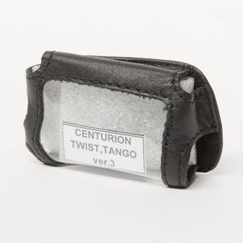 Чехол на сигнализацию CETURION TWIST V.3, TANGO V.3 кобура на подложке с кнопкой, кожа черн
