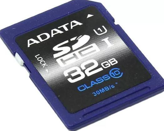 Карта памяти ADATA 32GB MICRO SDHC UHS-1 CL10 ASDH32GUICL10-R