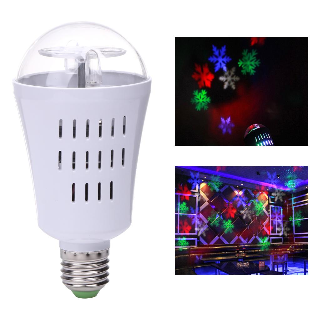 Вращаящийся LED проектор в патрон