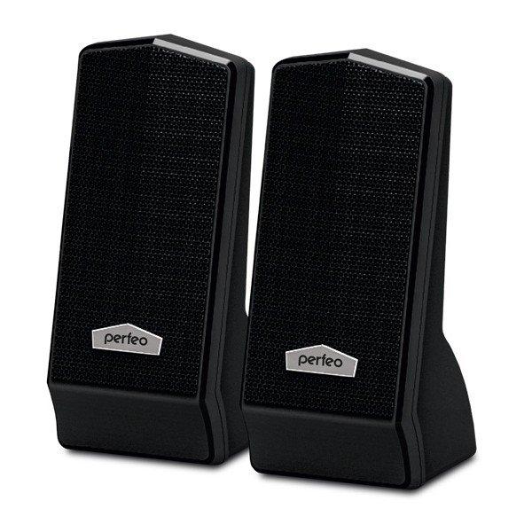 """Колонки для компьютера PERFEO PF-601 черные 2.0 """"CURSOR"""" 2x3 Вт USB"""