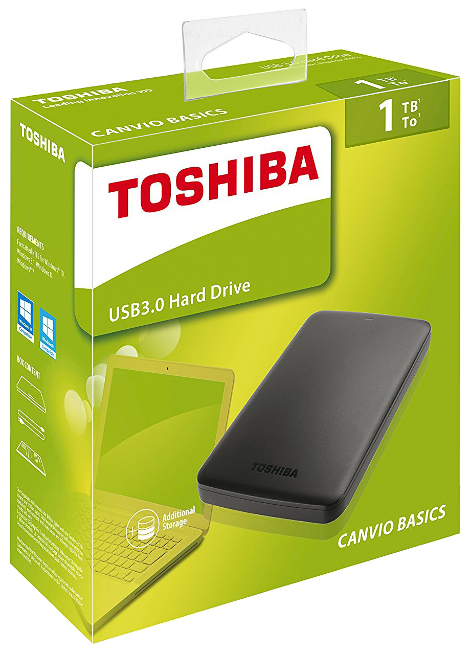 "ВЖД TOSHIBA 1000GB 1.0TB 2.5"" STOR.E CANVIO BASICS BLACK USB 3.0"